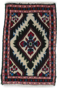 Tribal Design Hand-Knotted Tiny 1X2 Small Entryway Rug Oriental Kitchen Carpet