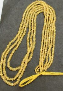 """30 Cts Natural Sapphire Fine Handcraft Faceted (2-3MM) Rondelle Beads=16""""1Strand"""