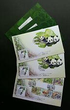 Malaysia 7 Wonders Of Flora & Fauna 2016 Panda (FDC set) *odd *unusual *signed