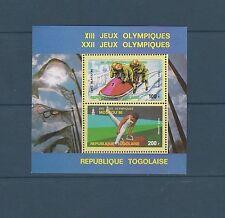 Togo bloc   jeux olympiques de Lake Placid      de 1979   num: 134   **