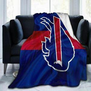 Buffalo Bills Football Blanket Sofa Couch Bed Sherpa Fleece Throw Blanket Gift