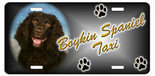 Boykin Spaniel Taxi Line License Plate ( Special Low Clearance Price )