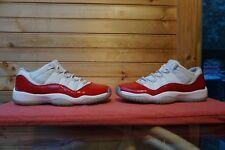 2016 Nike Air Jordan 11 Retro Low BG White Red Black Size 7Y (L819) 528896-102