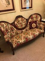 "Vintage Early 1800s Victorian ""Style"" Sofa and 2 Chairs EXCELLENT CONDITION!!"