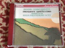 brahms - string quintets .members of the berlin philharmonic octet . cd