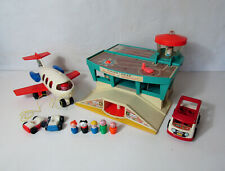 aéroport fisher price vintage little people avion bus personnages voitures
