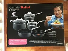 NEW JAMIE OLIVER PRO SERIES TEFAL HARD INODISED INDUCTION 5 PIECE COOKSET R-$799