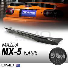 Mazda MX-5 Miata NA 89-98 OKAMI TR-style ducktail rear spoiler carbon fiber