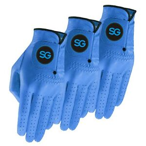 SG Men Colored Cabretta leather golf gloves Pack of 3 & 5 GREAT VALUE 4 MONEY