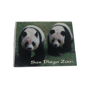 San Diego Zoo Wild Animal Park Pandas Vintage 1980s Fridge Souvenir Magnet