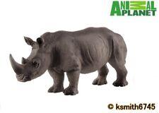 Mojo Animal Planet WHITE RHINOCEROS solid plastic toy wild zoo rhino NEW