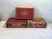 3~ VINTAGE ROI- TAN & EL ROI-TAN CIGAR BOXES