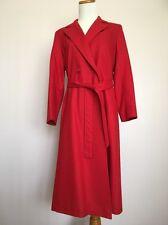 womens full length coat_Elegant Fashions_100% Merino Wool_Red_VTG_made in USA