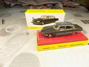 Citroën DS 21 Présidentielle 1968 /43 Dinky Toys 1435 Atlas Neuf Boite marquée