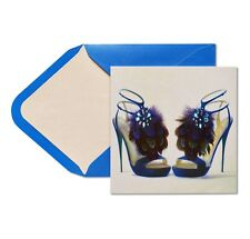 Papyrus Feather Jeweled High Heel Shoes Happy Birthday Greeting Cards $9.95