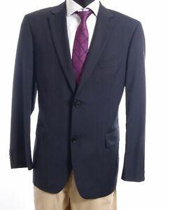 HUGO BOSS Jacket Pasolini1 Gr.52 Blue Pinstripe 2-Knopf Super 100's S514