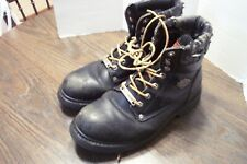Harley Davidson Black Lace Up Boot Steel Toe Size 10.5W See Pics