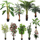 Large Artificial Palm Tree Realistic Fake Tropical Plant In/Outdoor Home Decor