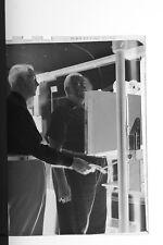 (2) B&W Press Photo Negative Public Signing In Xray Machine Exam Room - T4606