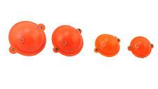 Zebco Orange & Clear Bubble Floats Various Sizes