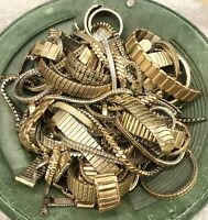 100 Gram Scrap Watch Band Gold-Filled and RGP Top Cap Mixed Recovery Refine Lot
