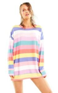 Wildfox Couture women's Stripe Roadtrip sweater size XS-XL new orginal $124 cute