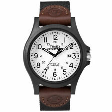 "Timex TW4B08200, Men's ""Expedition Acadia"" Black Nylon Watch, Indiglo, Date"