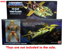 Masters of the Universe HE-MAN & WIND RAIDER Gift Set HQ REPRO (no toys) Limited
