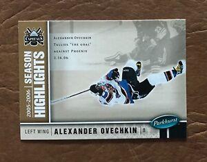 2005-06 UpperDeck Parkhurst Rookie Season Highlights  A.Ovechkin 588.