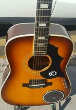 VINTAGE KAY ELECTRIC FOLK GUITAR BUILT IN TREMOLO NICE USED CONDITION RARE