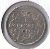 1871 Canada Silver Five Cents