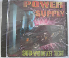 POWER SUPPLY - SUB-WOOFER TEST CD - BRAND NEW - FACTORY SEALED - RARE