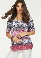 Bonita Damen Shirt Alloverprint T-Shirt Bedruckt Jersey Gr. 36 *851688*