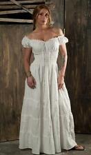 RENAISSANCE COSTUME MEDIEVAL PIRATE WENCH HIPPIE BOHO CHEMISE SUN DRESS #Cd12
