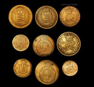 Assorted Army Corps and Misc Uniform Buttons Including Victorian (9)