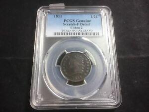 1811 Half Cent - PCGS Genuine - F Detail - Cohen 2