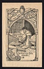 39)Nr.149-EXLIBRIS- Walter Witting, 1903, Eule + Gelehrter