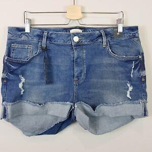 [ RIVER ISLAND ] Womens Denim Shorts NEW | Size AU/UK 18 or US 14