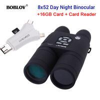 BOBLOV Night Vision Binocular Telescope +16GB + SD & Micro SD Memory Card Reader