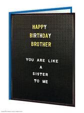 Brainbox CANDY Brother Bro Anniversaire Cartes voeux HUMOUR grossier coquin Joke