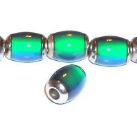 MC116 Color-Changing Thermo Sensitive Liquid Crystal Mood Bead 10mm Barrel 6pc