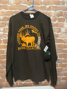 Bone Collector *Around here we shoot the Bull* NWT T shirt sz Med~long sleeve~