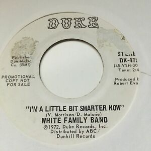 WHITE FAMILY BAND  - MISS AMERICA STAND UP/I'M A LITTLE BIT SMARTER NOW. VG+ !!