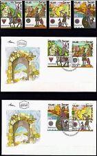 ISRAEL 2006 Stamps + FDC's CRUSADER SITES IN ISRAEL. MNH. (Very Nice Set).