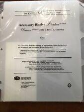 Creative Memories Accessory Binder- Dividers & Labels- 6 Pack- New