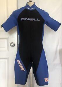 Oneill Half Wet Suit Mens Size L Black & Blue Style 7102