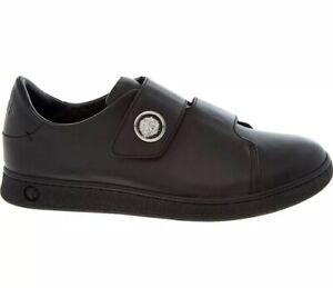 VERSACE VERSUS Designer Black Leather Shoes Trainers EUR42