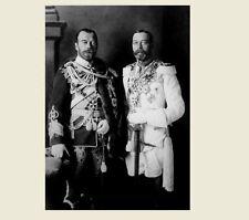 Czar Nicholas II of Russia PHOTO with King George V of England, 1913