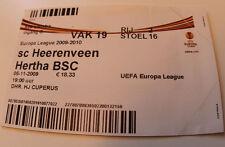 old TICKET EL SC Heerenveen Holland Netherlands - Hertha BSC Berlin Germany