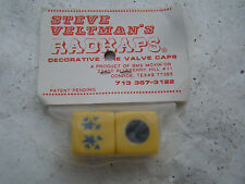 STARS RADKAPS VALVE CAPS NOS BMX CRUISER FREESTYLE RACING BICYCLE VINTAGE Y BLUE